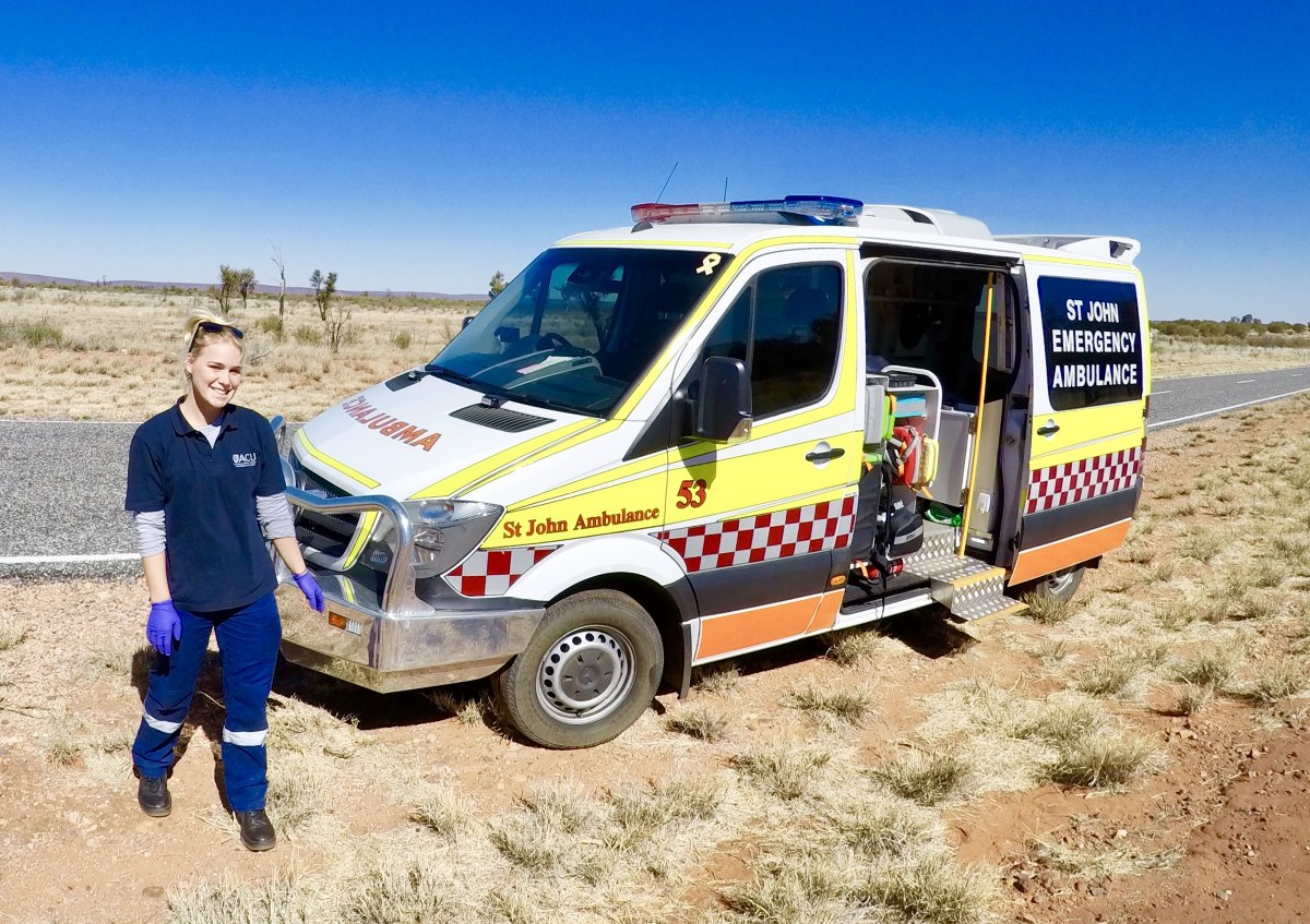 An important resource in Central Australia, the St. John's Ambulance. Image: Carrington Bond