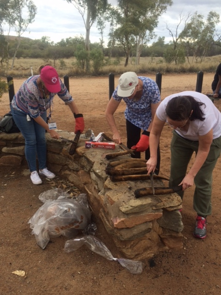 Australian College of Nurse Practitioners Conference - Cooking kangaroo tails at the Cultural Fire event