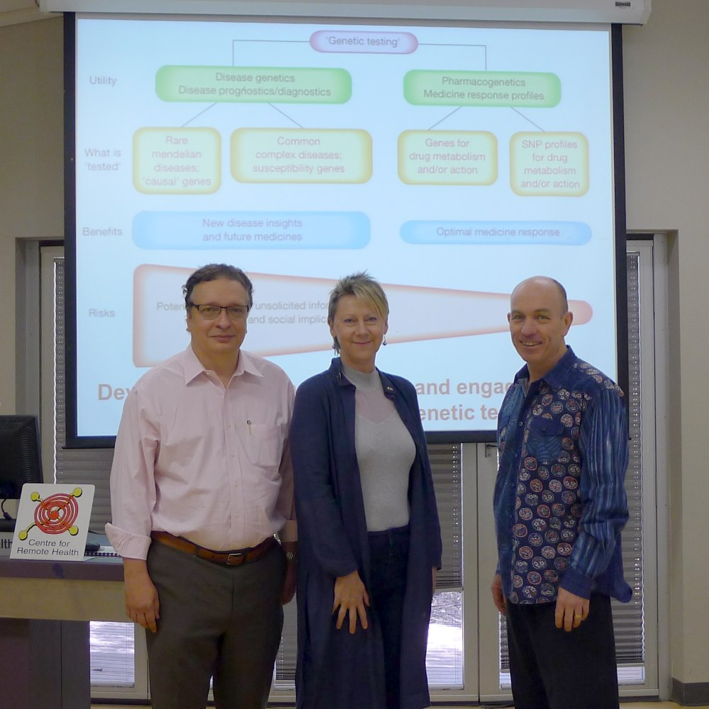 Professor Julio Licinio, Associate Professor Pascale Dettwiller, Professor Tim Carey