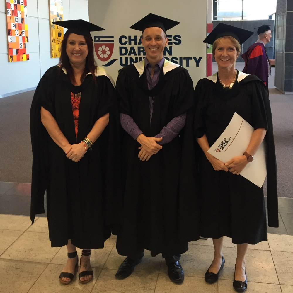 Nurse Practitioner Graduates, Kim Findlay, Stuart Mobsby and Verena Tinning